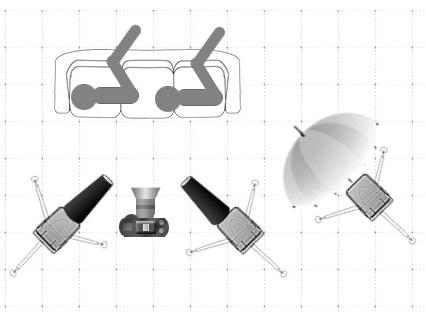 Diagram - Hra světel